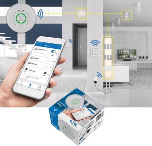 Pachet iluminat SMART 5 zone,xComfort, 6 intrerupatoare wireless + 5 controlere (3 on/off si 2 Dimmere) + xComfort Bridge