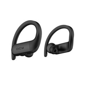 Casti sport QCY T6, TWS, Wireless, Negre, Waterproof, 8.2g, bluetooth 5.0